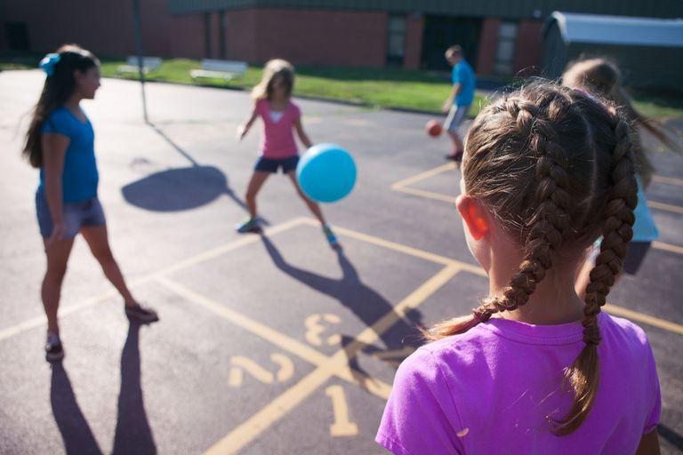 Girls playing at recess