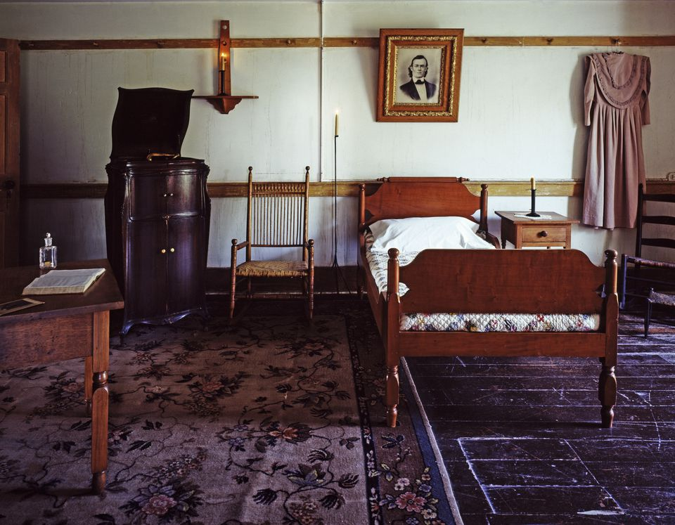 A bedroom at Shaker Village, Pleasant Hill, Kentucky