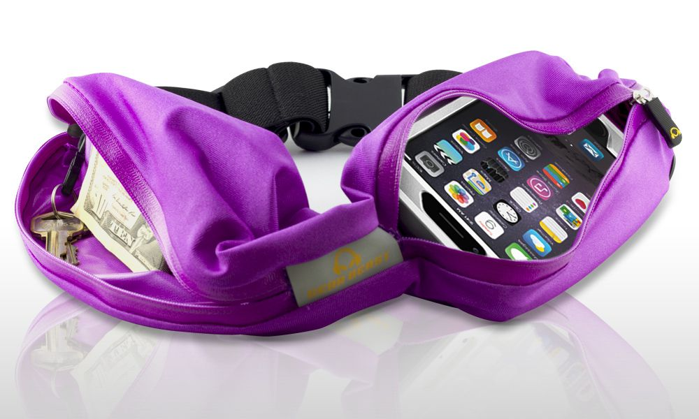 Gear Beast Dual Pocket Running Belt Fanny Pack Waist Bag