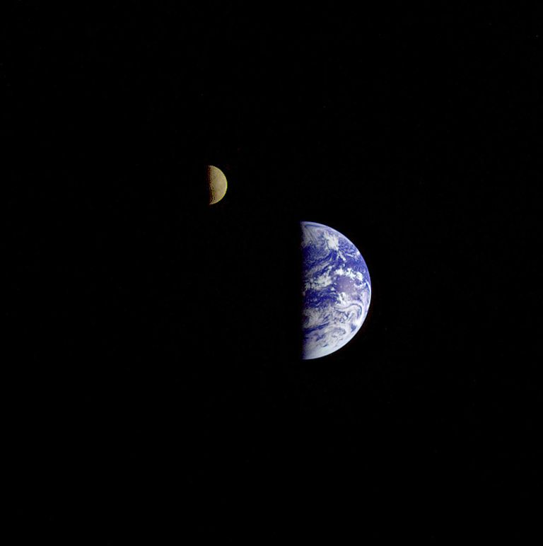 Distant Earth and Moon