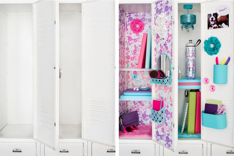 Locker shelves