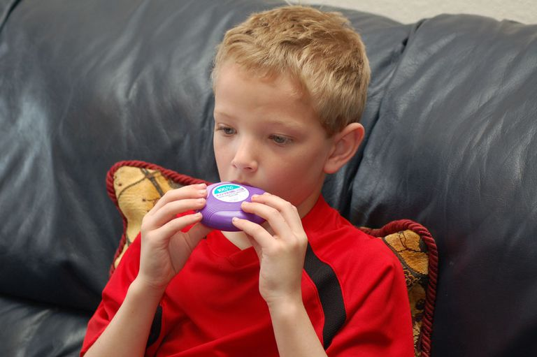 A Child Using Advair
