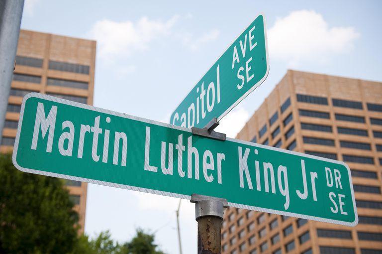 Martin Luther King Jr street sign