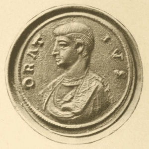 Bronze medallion of Horace from the reign of Constantine.