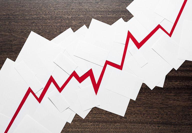 A red graph trending upward