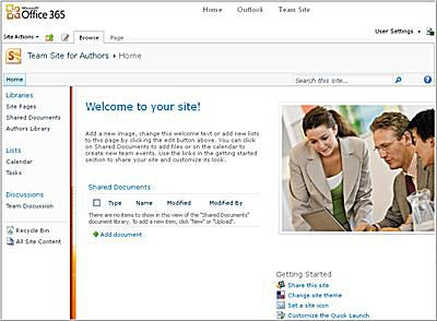 Team Site in Office 365