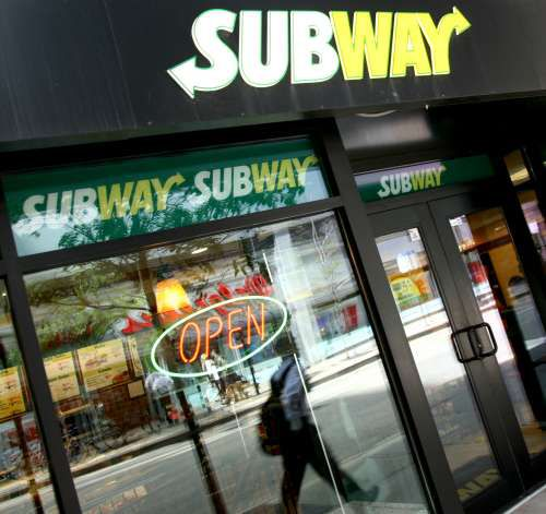 A picture of a Subway restaurant