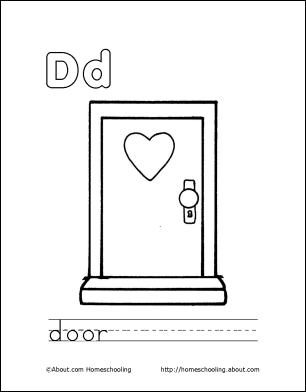 Letter D Coloring Book