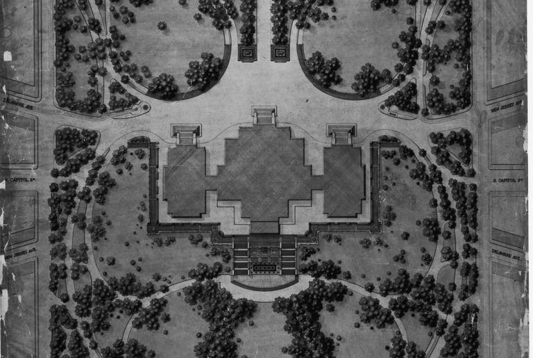 Frederick Law Olmsted's map and landscape plan for the U.S. Capitol Grounds, 1874