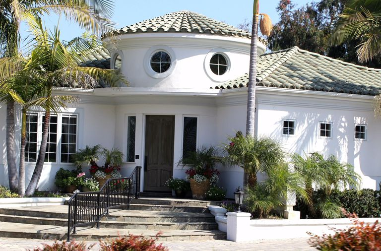 Stucco Sided Home With Spanish Revival Influences