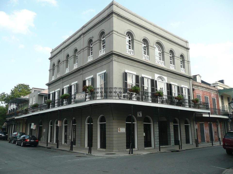 The LaLaurie Mansion 1140 Royal Street, New Orleans. Built 1832. It is reputed to be haunted by mistreated slaves - a story stemming from a fire in the building in 1834 when neighbours helping to save furniture from the flames reputedly found tortured slaves belonging to Madame LaLaurie chained up in their quarters. LaLaurie's house was subsequently sacked by an outraged mob of New Orleans citizens, and it is thought that she fled to Paris, where she died. Nicolas Cage owned the building from 2007-9.
