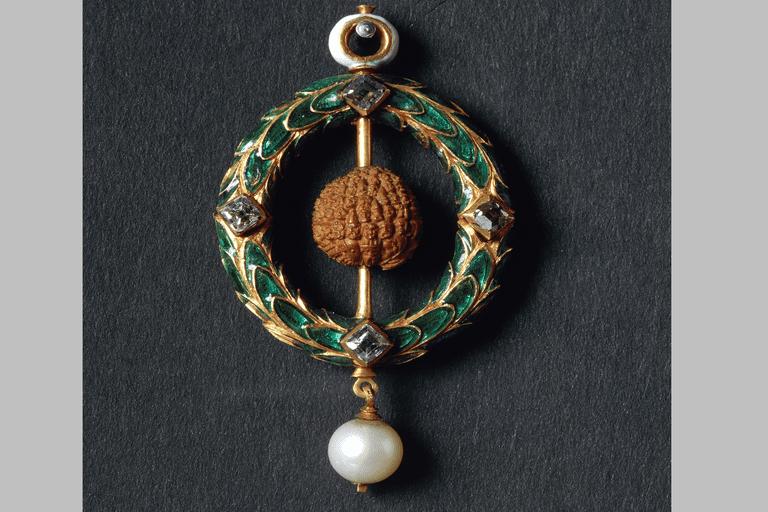 Jewel with carved cherry stone, by Properzia de Rossi, 1491-1530