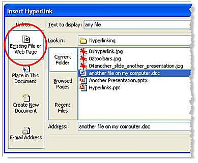 add hyperlinks to powerpoint presentations hyperlink in powerpoint to another file on your computer