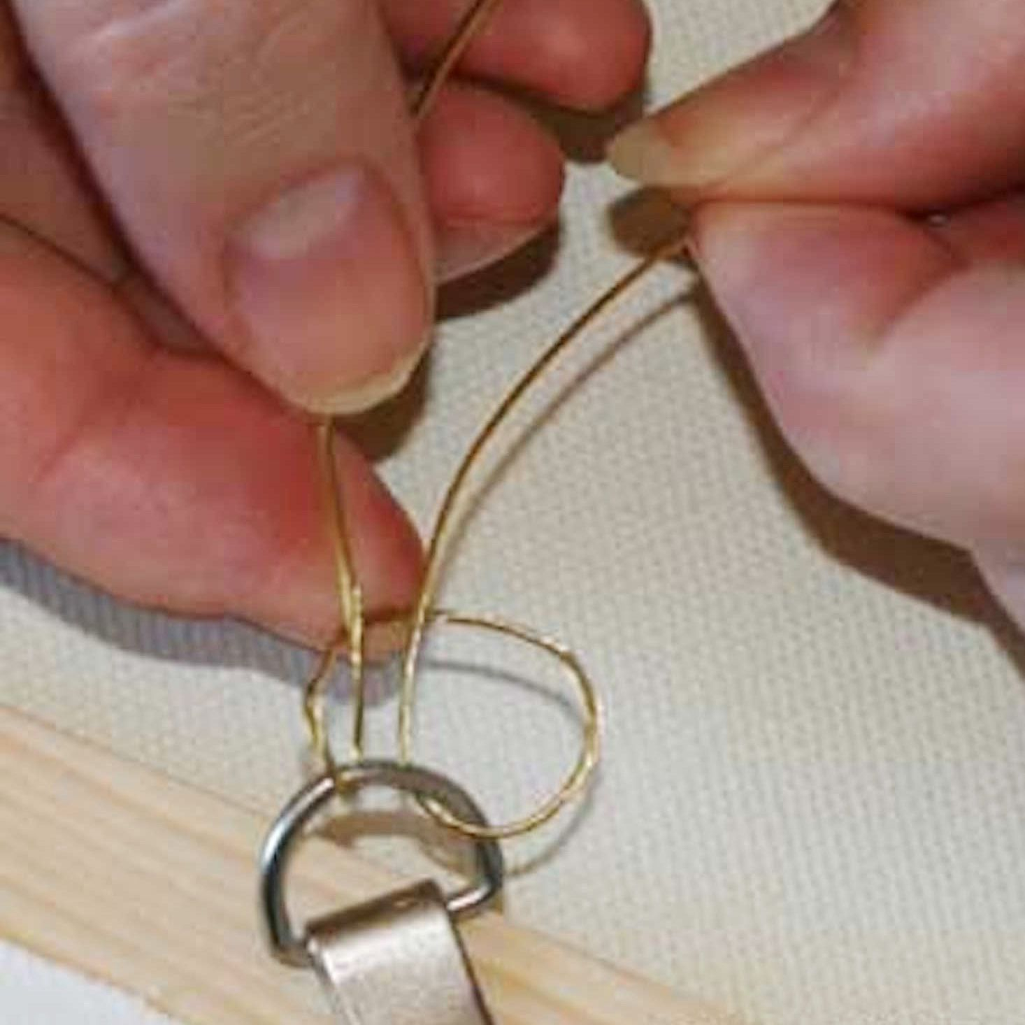 How to hang a painting with wire and d rings amipublicfo Choice Image
