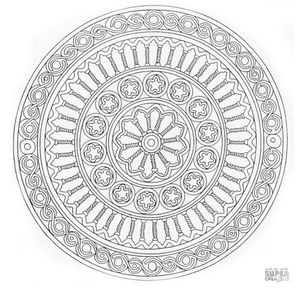 mandala coloring pages from super coloring - Mandala Color Pages
