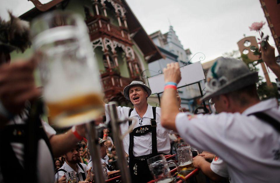 Brazilian City Of Blumenau Holds Its Annual Oktoberfest