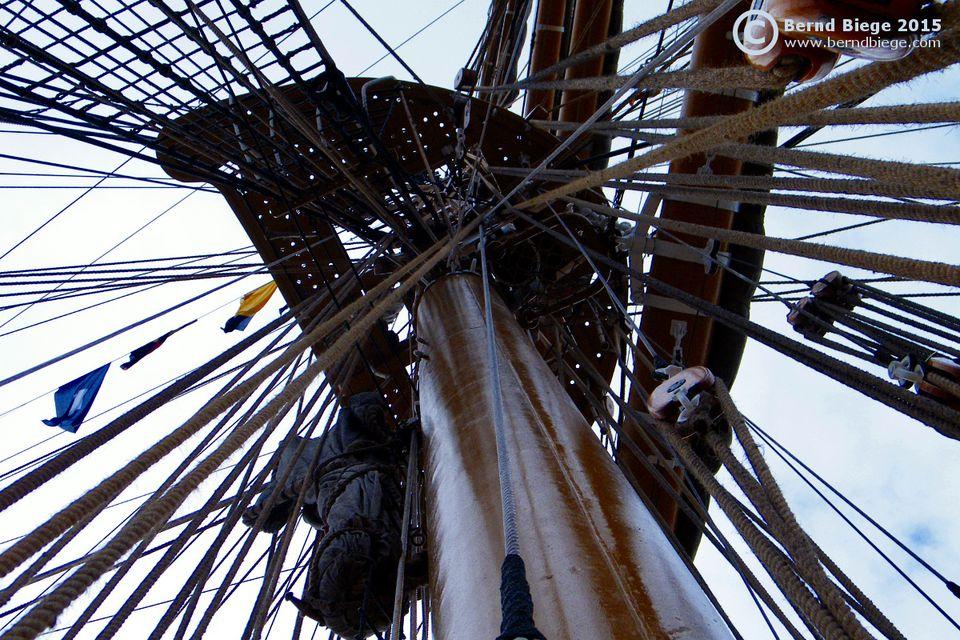 A tall ship's mast