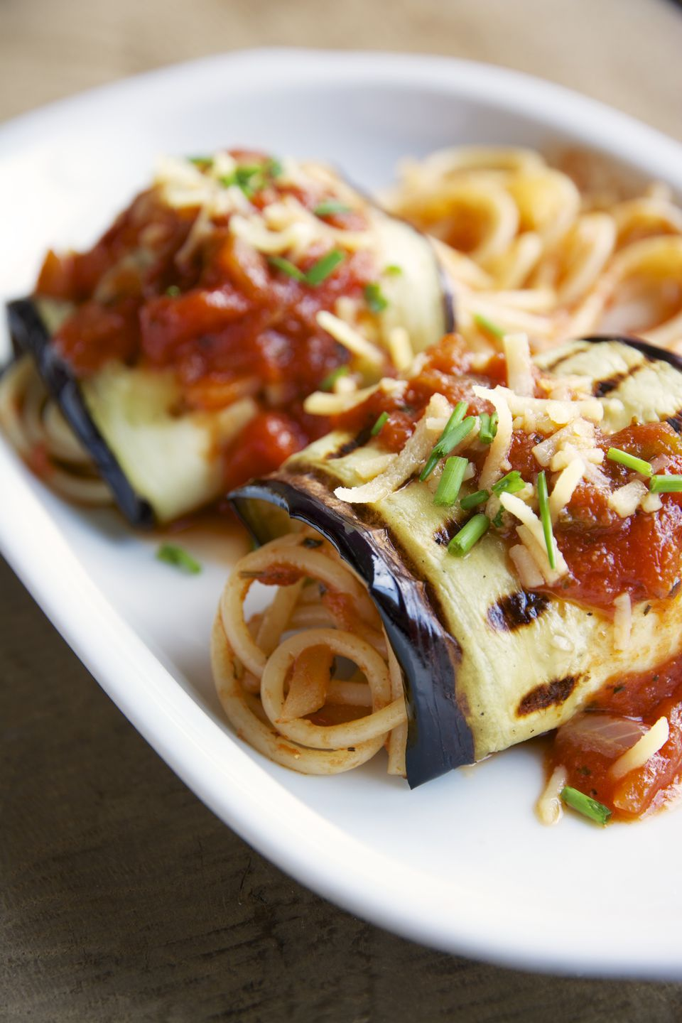 Eggplant and Spaghetti Involtini