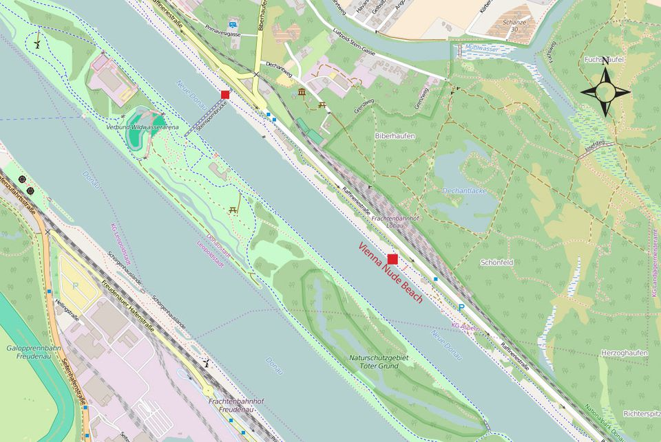 vienna nude beach map