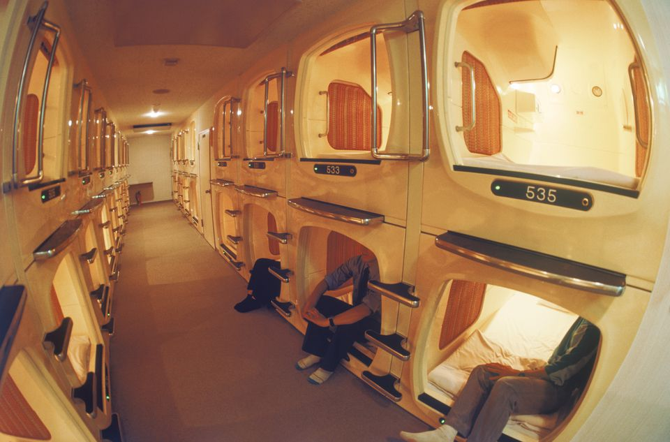 capsule hotel and budget travel. Black Bedroom Furniture Sets. Home Design Ideas