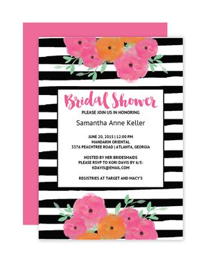 Printable wedding shower invitations online