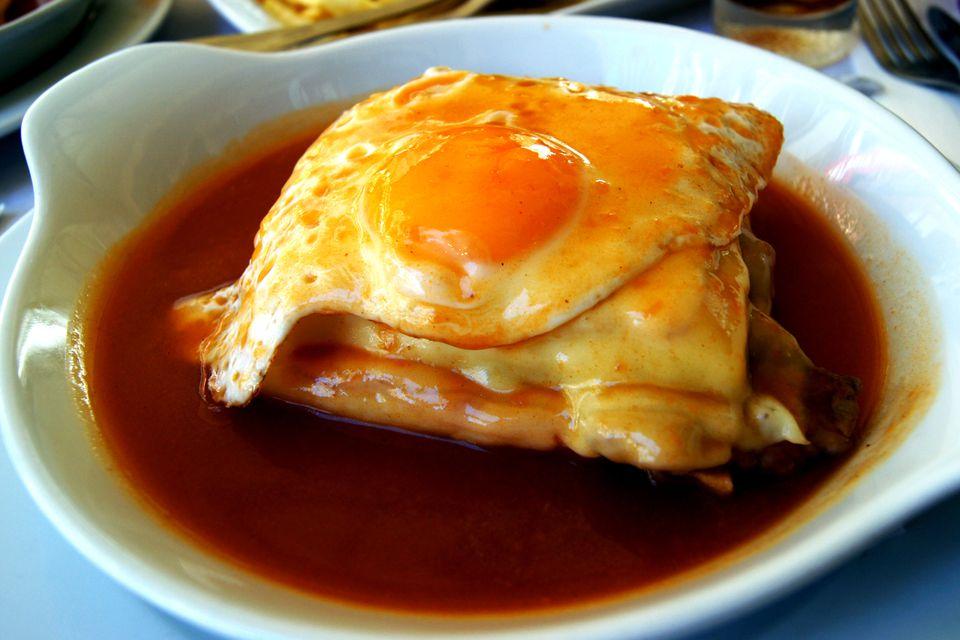 Francesinha is a Portuguese sandwich originally from Porto.
