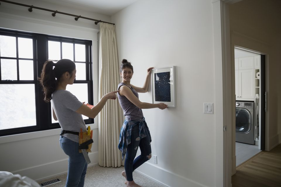 Mother Guiding Teenage Daughter Hanging Art