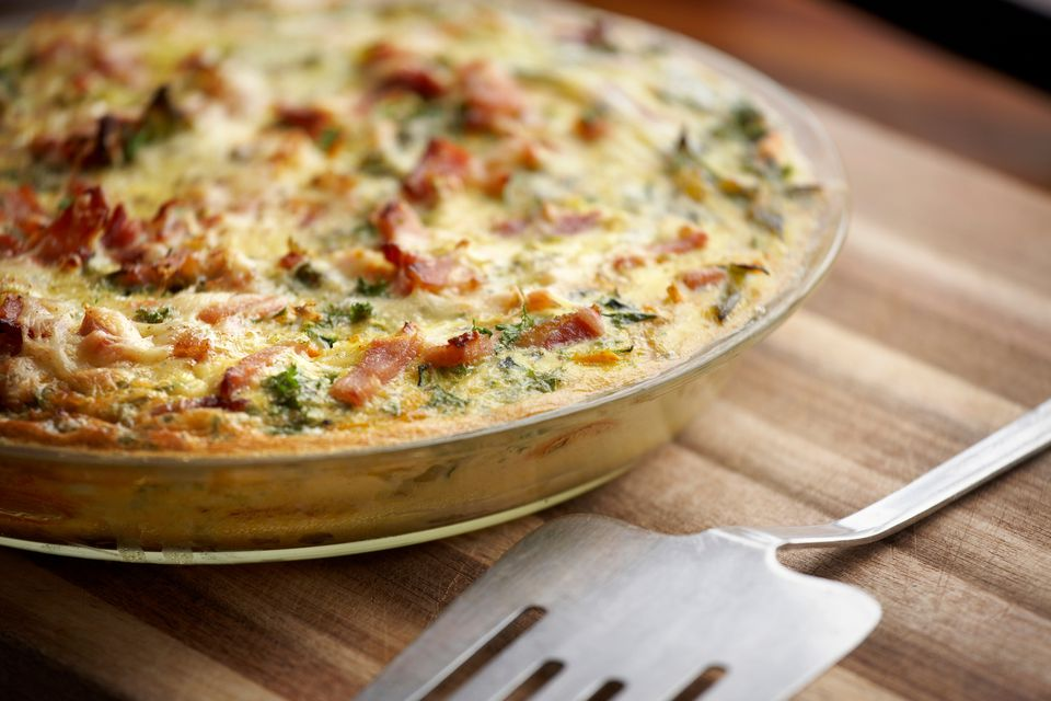 Spinach bacon and cheddar frittata