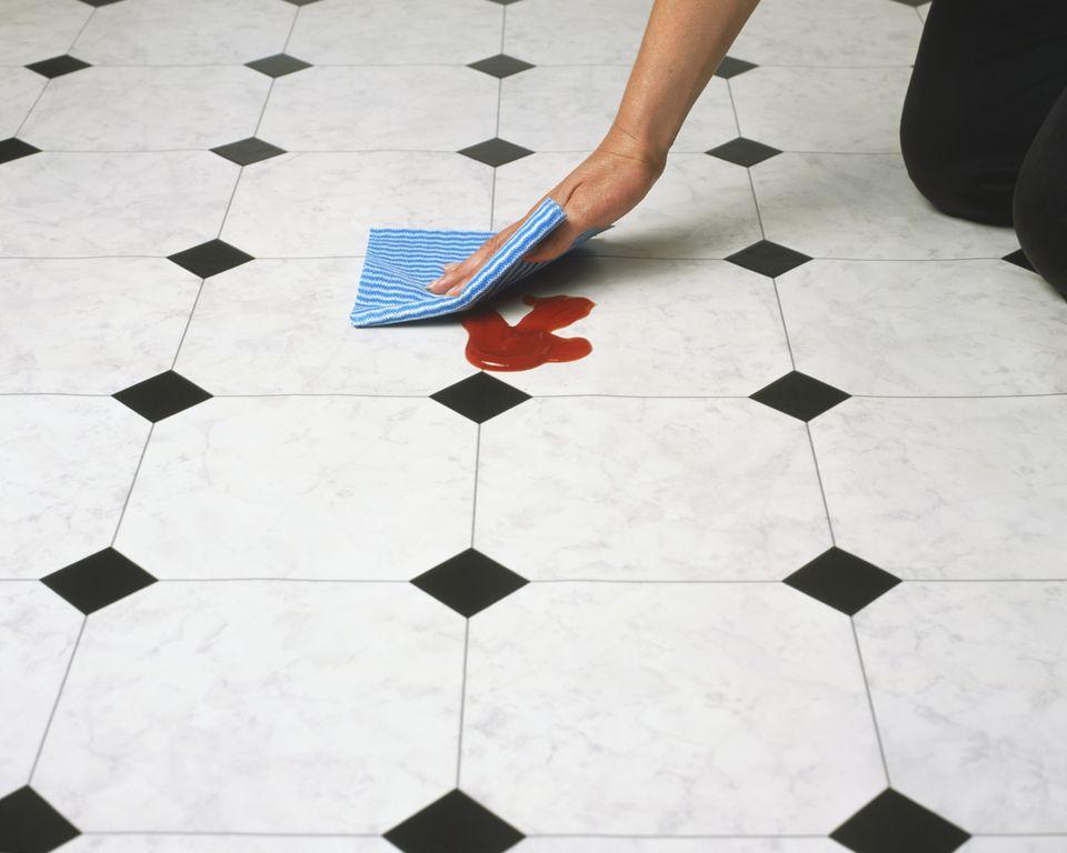 Green Linoelum Flooring