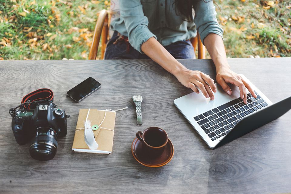 Blogging outdoors