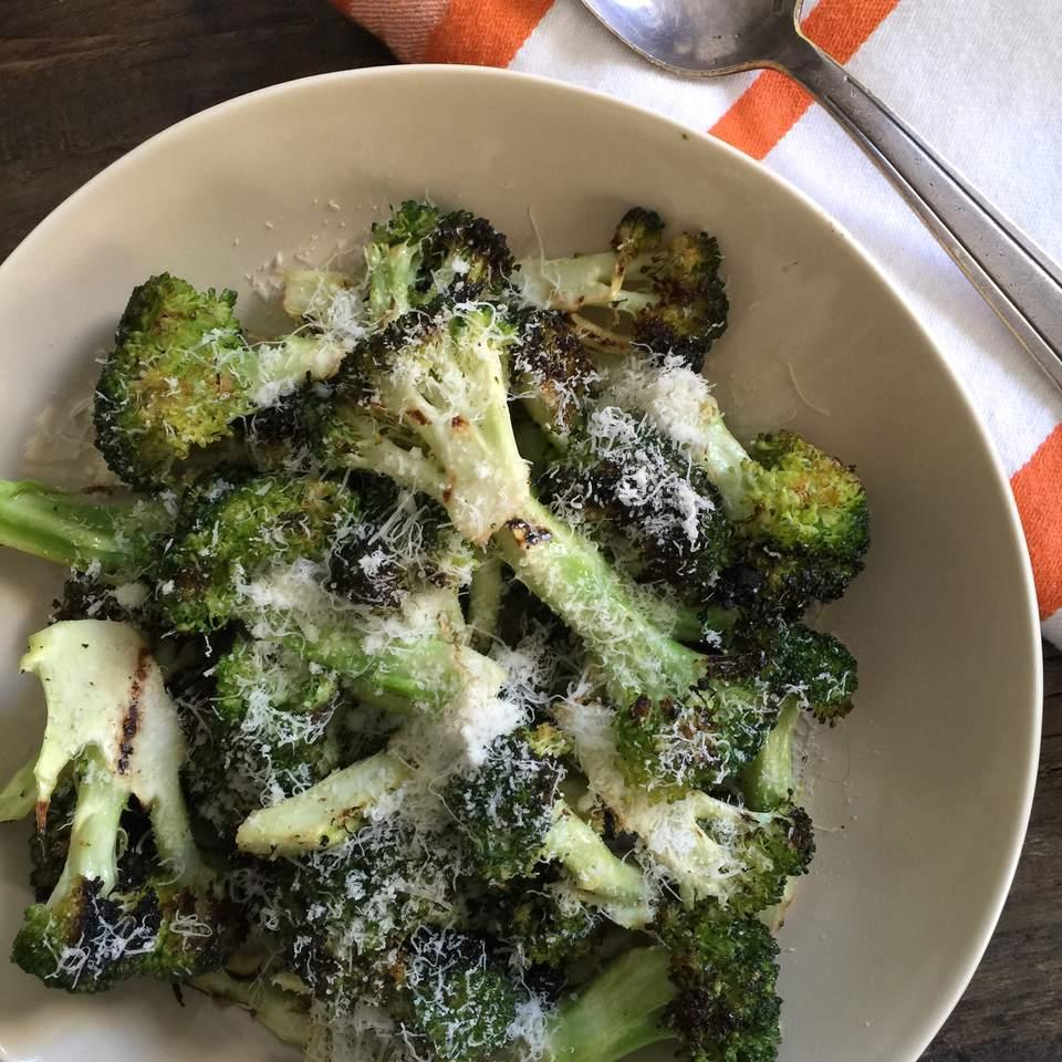 Grilled Broccoli with Parmesan, photo by Katie Workman/themom100.com