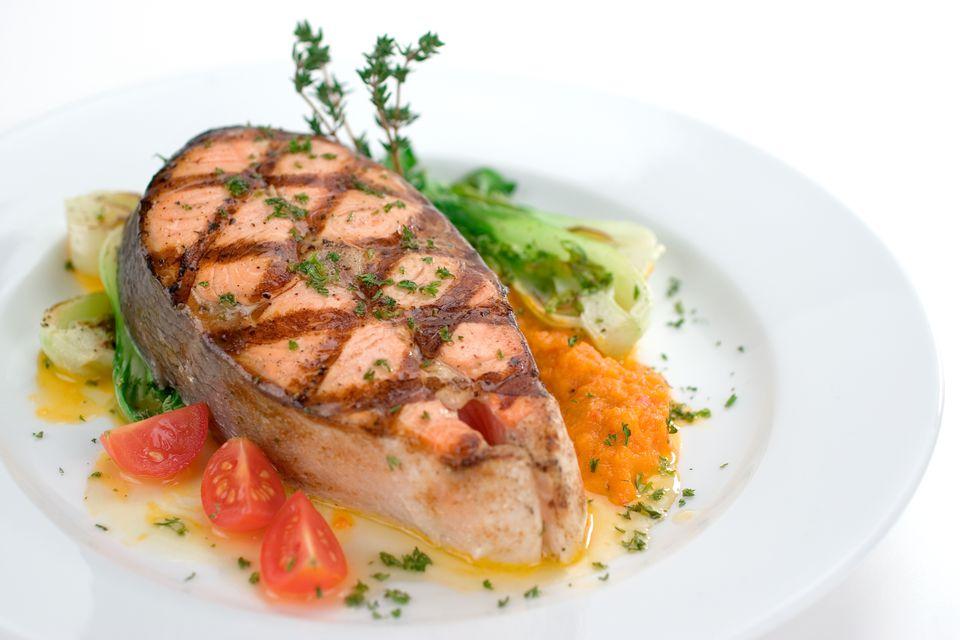 Grilled Salmon Steak Entree