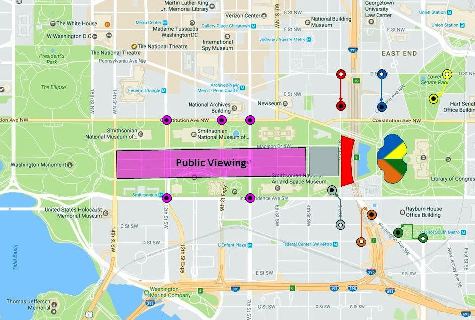 Inaugural Swearingin Ceremony Map And Directions - Map of us capitol grounds