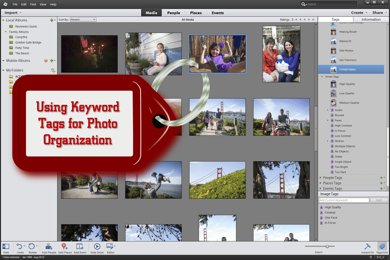 Using Keyword Tags for Photo Organization