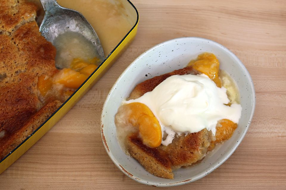 Shortcut Peach Cobbler