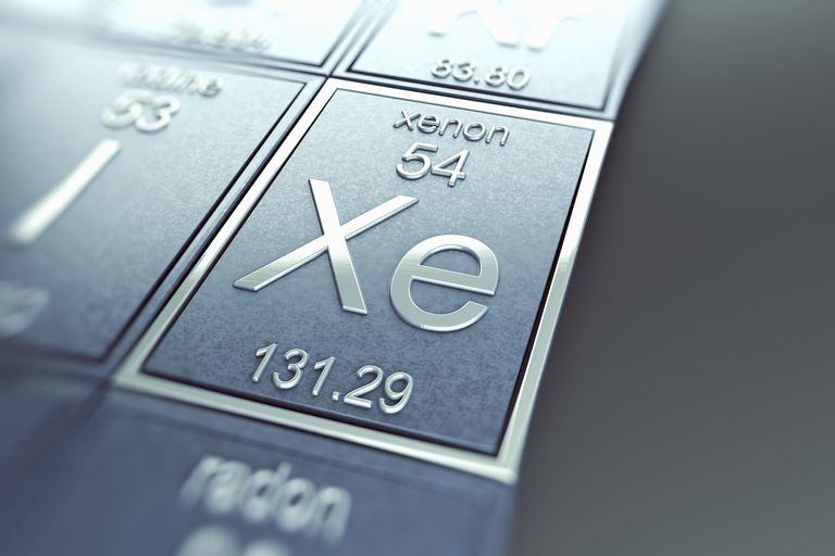 Xenon Periodic Table Element Tile