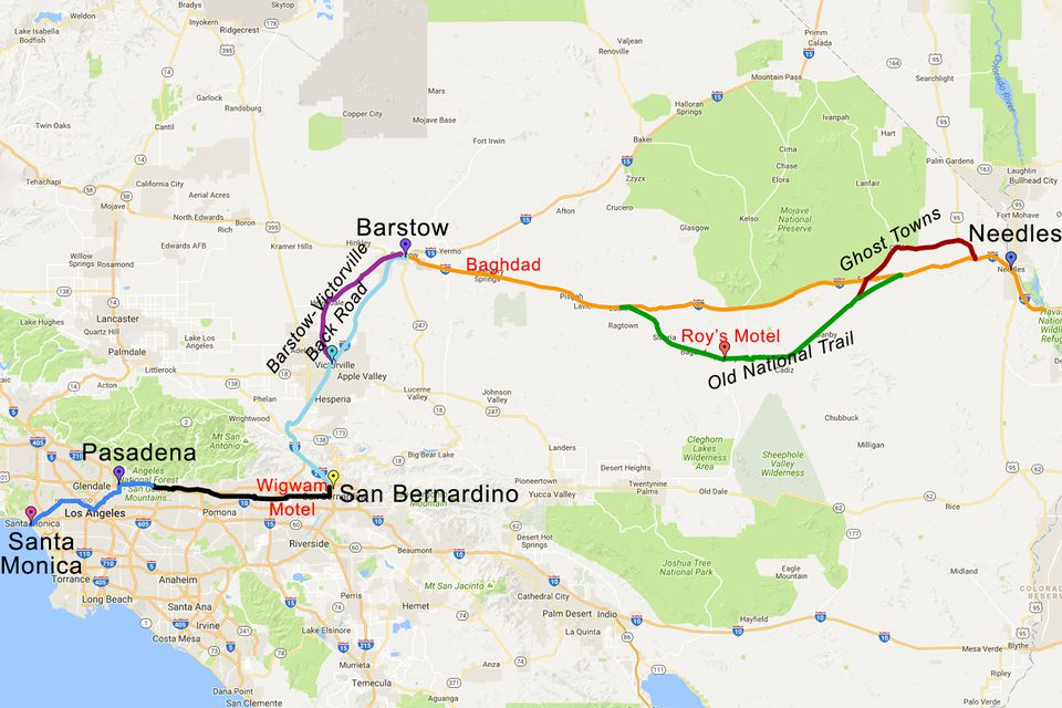 Route In California Driving Tour And Road Trip - A map of california cities