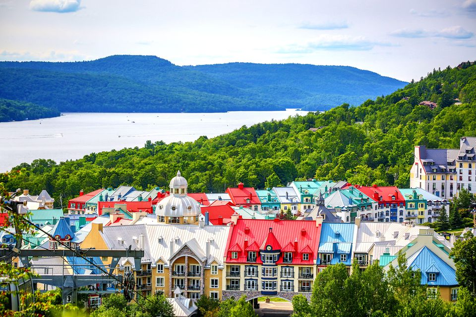 Beautiful Mont tremblant in Quebec, Canada.