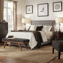 wood and upholstery bed. Best Upholstered  Three Posts Woodside Panel Bed The 7 Beds to Buy in 2018