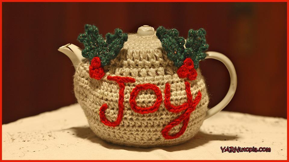 Christmas Crochet Teapot Cozy Free Pattern
