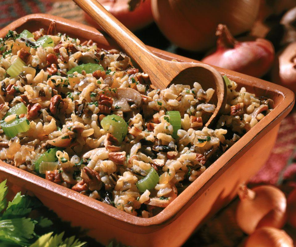 Gluten-free vegan stuffing with rice