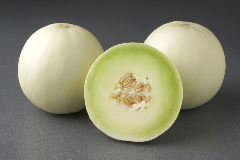 Picture of three honeydew