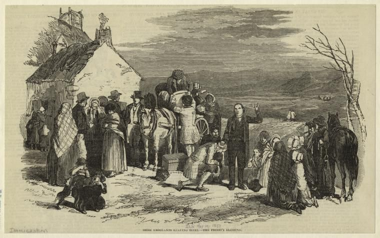Irish Emigrants Leaving Home