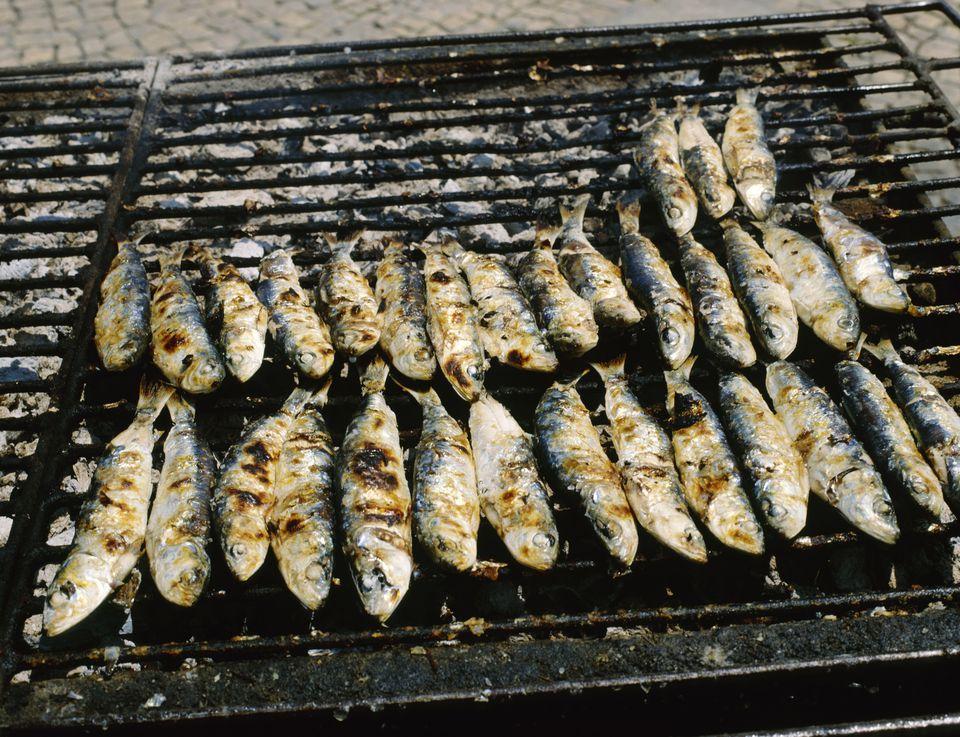 Grilled Sardines, Portimao, Algarve, Portugal