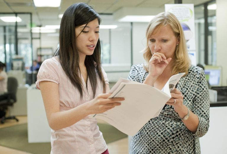 Two business women in consultation