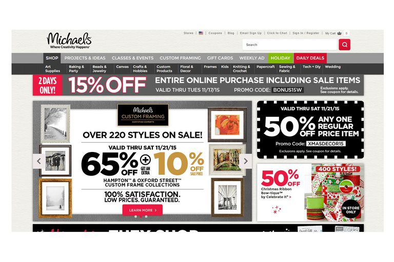 Michael's Online Coupon