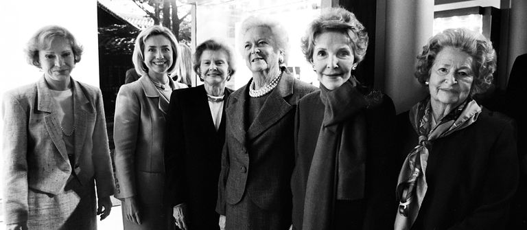 Six First Ladies At President Bush Library