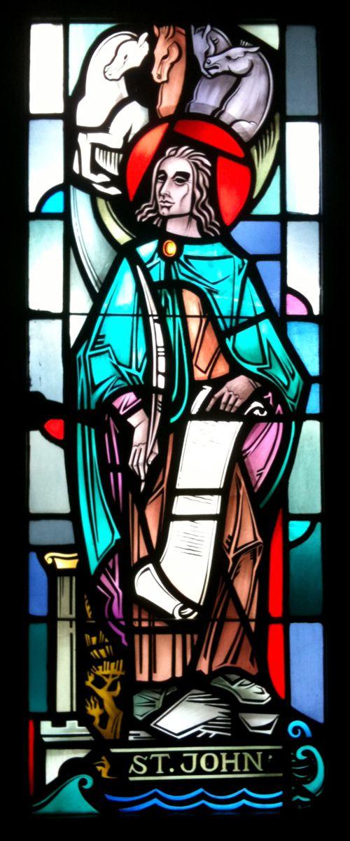 St. John, Apostle, Evangelist, St. Peter's Cathedral, Rockford, Illinois. (Photo © Scott P. Richert)