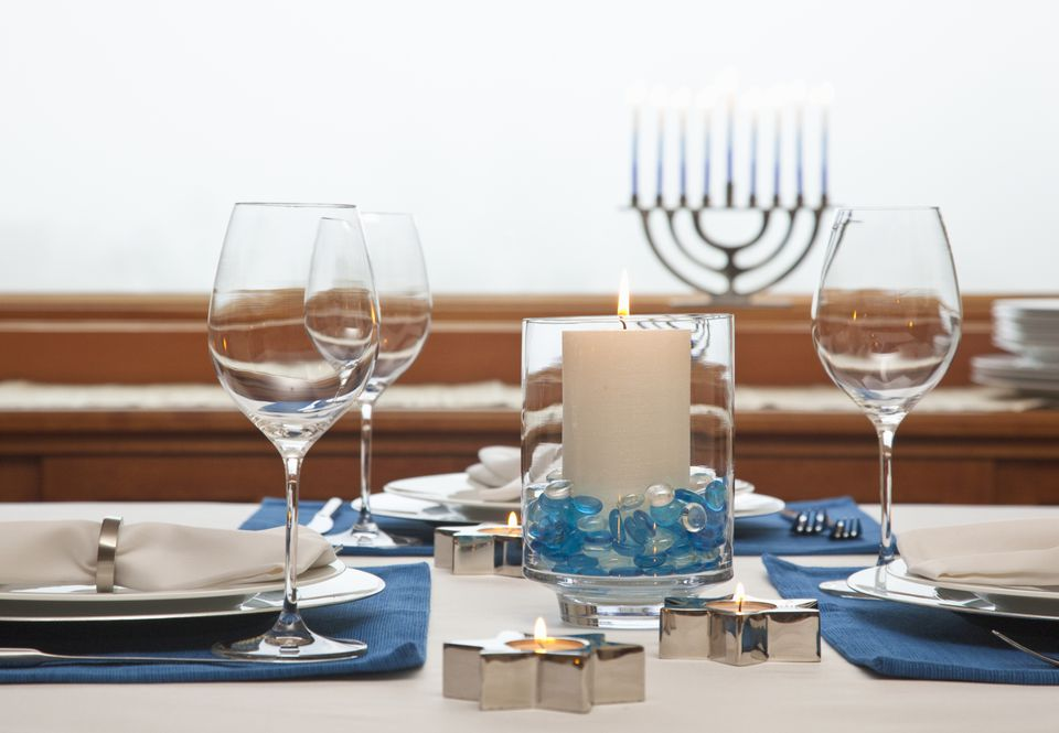 Hanukkah table photo