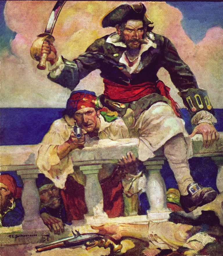 Blackbeard Attacks a Ship
